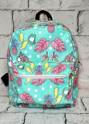 Рюкзак текстильный, Единорог, детский, женский рюкзак с принтом
