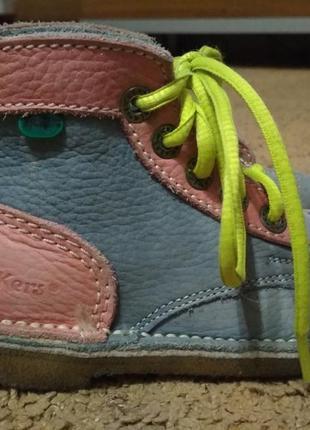 Кожаные демисезонные ботиночки с ортопедической стелькой 28 ра...