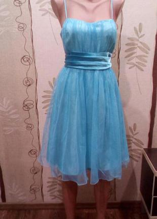 Красивое, лёгкое, воздушное платье с блестящим фатином размер xl