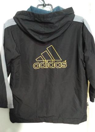 Adidas!Ветровка с капюшоном, на флисовом подкладе на возраст 8...