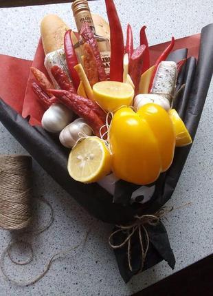 """Мужской букет """"Джентльмен"""", букет с колбасы, овощной букет на зак"""