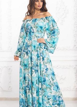 Шикарное весеннее макси платье большие размеры