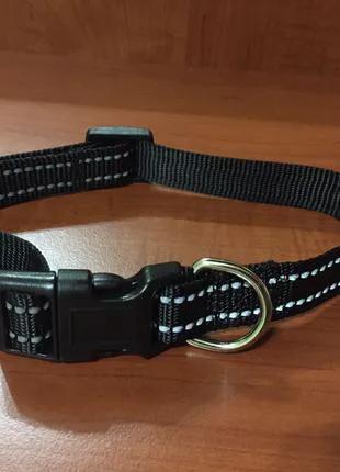 Ошейник для собаки средней породы со светоотражающими полосками