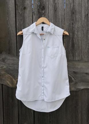 Летняя рубашка безрукавка