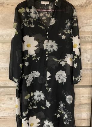 Стильная блуза/кардиган в цветочный принт