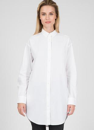 Рубашка белая удлиненная женская хлопковая