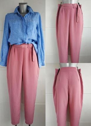Летние брюки  george розового цвета с поясом, карманами
