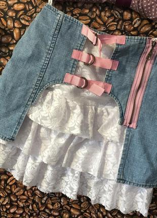 Оригинальная юбка два в одном на рост 134-140 см