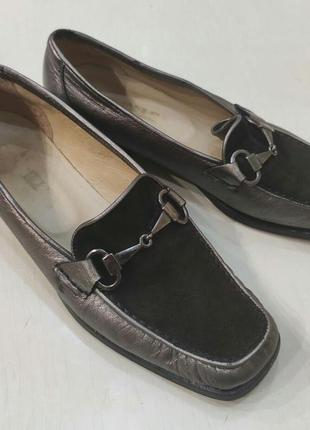 Vero cuoio кожаные туфли лоферы на низком каблуке
