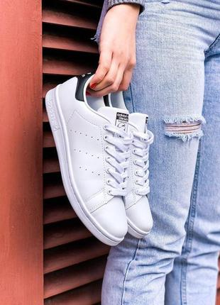 Adidas stan smith кожаные кроссовки адидас в белом цвете (весн...