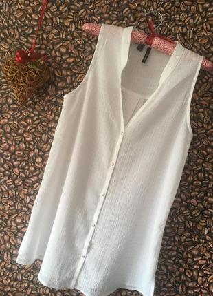 Легкая блузка рубашка без рукавов