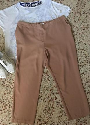 Лёгкие укороченные брюки большой размер