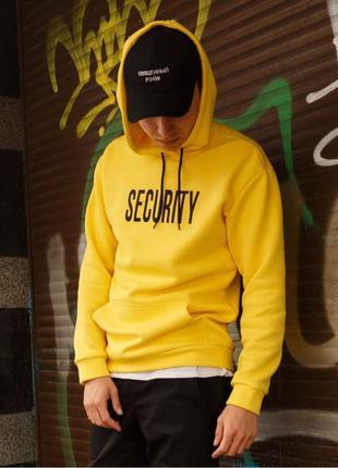 Мужское худи Security желтое