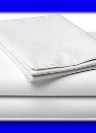 Простынь белая 150*215, бязь 100% хлопок опт.