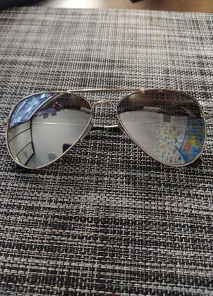 Солнцезащитные очки авиатор зеркальные