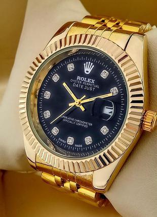 Кварцевые наручные часы Rolex Classic на металлическом браслете