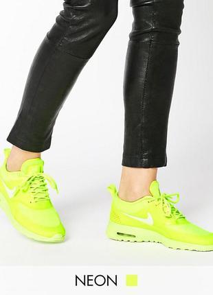 Желтые кроссовки nike air max thea оригинал