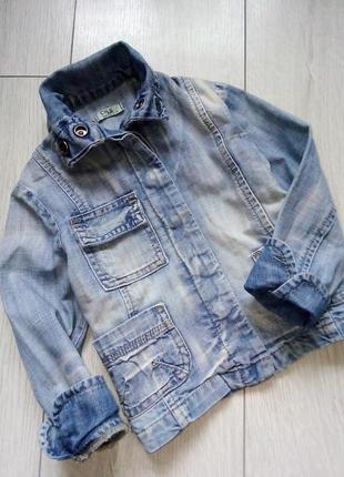 Джинсовая куртка жакет для девочки