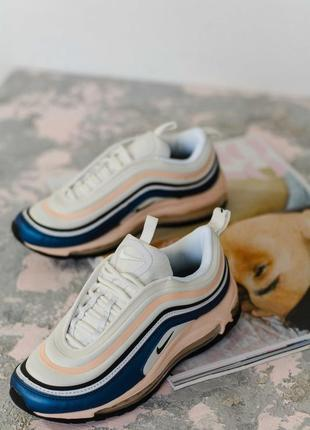 Кроссовки женские    nike air max 97, blue/beige