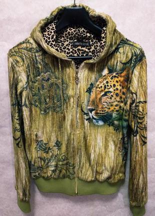 Дизайнерская шикарная  куртка  от roberto cavalli