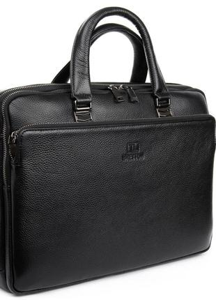 Мужская кожаная сумка-портфель для документов bretton.  шкіряний