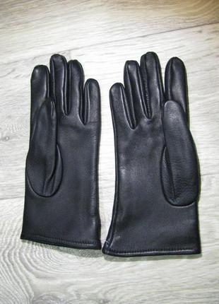 Перчатки кожаные 6,5 размер xs-s женские кожа черные