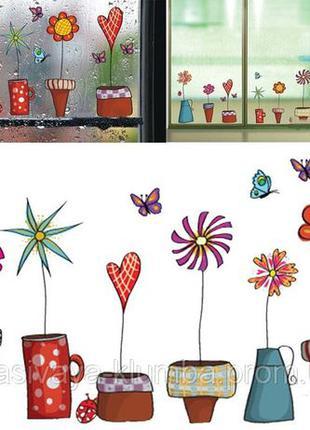 Интерьерная наклейка на стену, кухню на окно холодильник дестк...