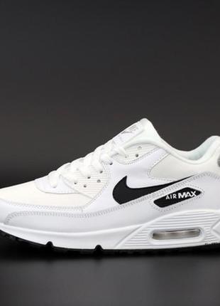Мужские кроссовки найк nike air max 90 white black