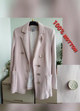 Удлиненный пиджак жакет с накладными карманами