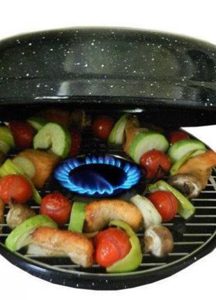 Сковорода Гриль-Газ BENSON BN-803 мраморным эмалированным покрыти