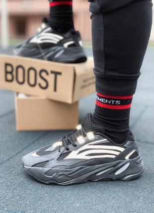 Шикарные мужские рефлективные кроссовки adidas yeezy boost 😍 (...
