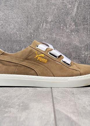 Кроссовки Puma Suede Hearte | размер 38-й | пума бежевые