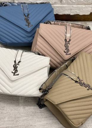 Женская сумка в стиле yves saint laurent ив сен лоран в расцве...