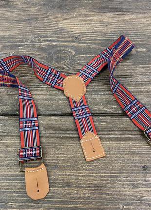 Подтяжки  на петлях, красные) , текстиль, для для мальчика