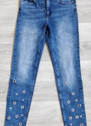 Женские голубые джинсы rеserved