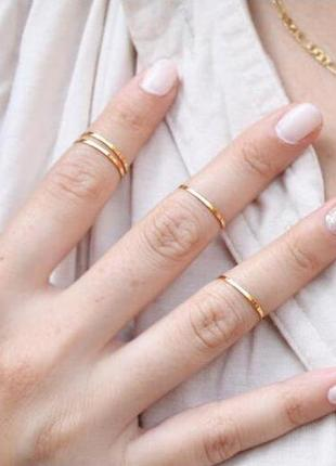 Набор из 5-ти тонких колец на фаланги пальцев ( кольца на фала...