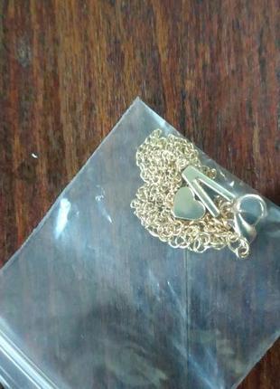 Ожерелье цепочка с подвеской сердечко и буква л
