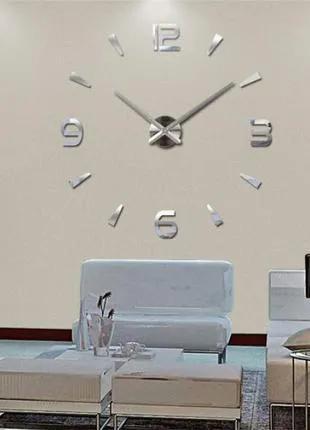 Часы 3D настенные WOW кварцевые Арабские и Засечки Зеркальные 100