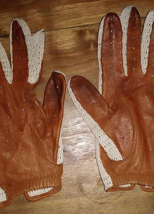 Женские винтажные перчатки, stmichael, кожа+сетка