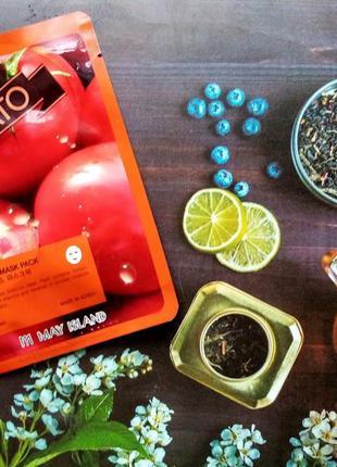 🍅may island тканевая маска с экстрактом томата