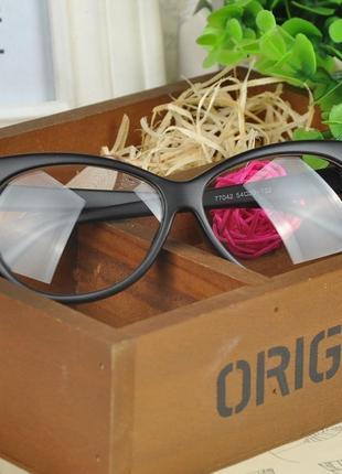 Имиджевые очки кошечки cat eye черные матовые