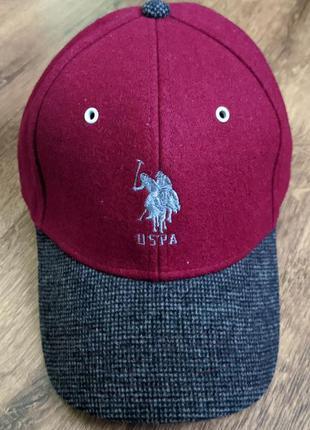 Бейсболка кепка u.s. polo assn шерсть оригинал