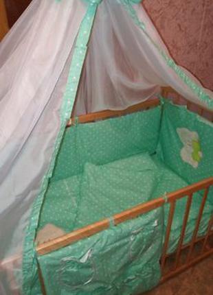 Постельные комплекты в кроватку для новорожденных, 8 предметов...
