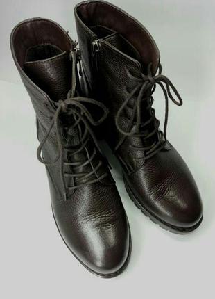 Демісезонні шкіряні черевики39 р. кожа ботинки весна, сапожки
