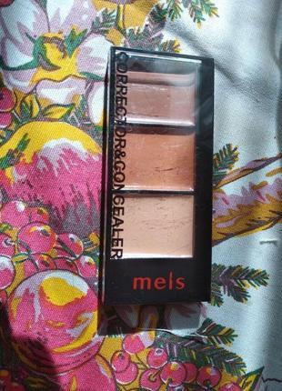 Палитра консилеров-корректоров 3 цв. meis professional make-up...