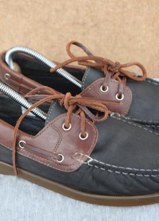 Топсайдеры watsons кожа германия 43р туфли мокасины
