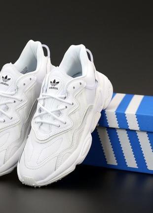 Adidas ozweego white женские кроссовки адидас белые