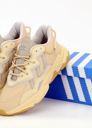 😍женские бежевые кроссовки адидас😍