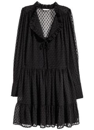 Платье шифоновое прозрачное h&m размер 38