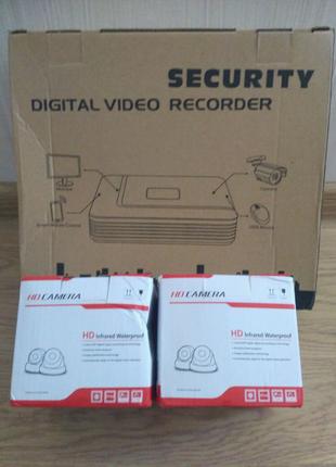 Набор AHD видеорегистратор DVR-A1004NS 4CH Full HD + камеры 3,6мм